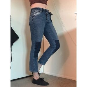 High Waisted Lucky Jeans Tie Waist